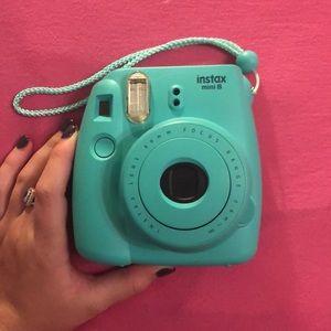 Mint Blue Barely Used Polaroid